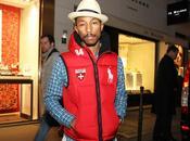 Pharrell Williams, doudoune rouge Nike snowboarding