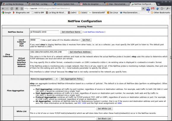 Ntop et la supervision réseau via Netflow/IPFix
