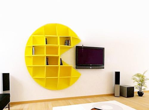pacman bookcase