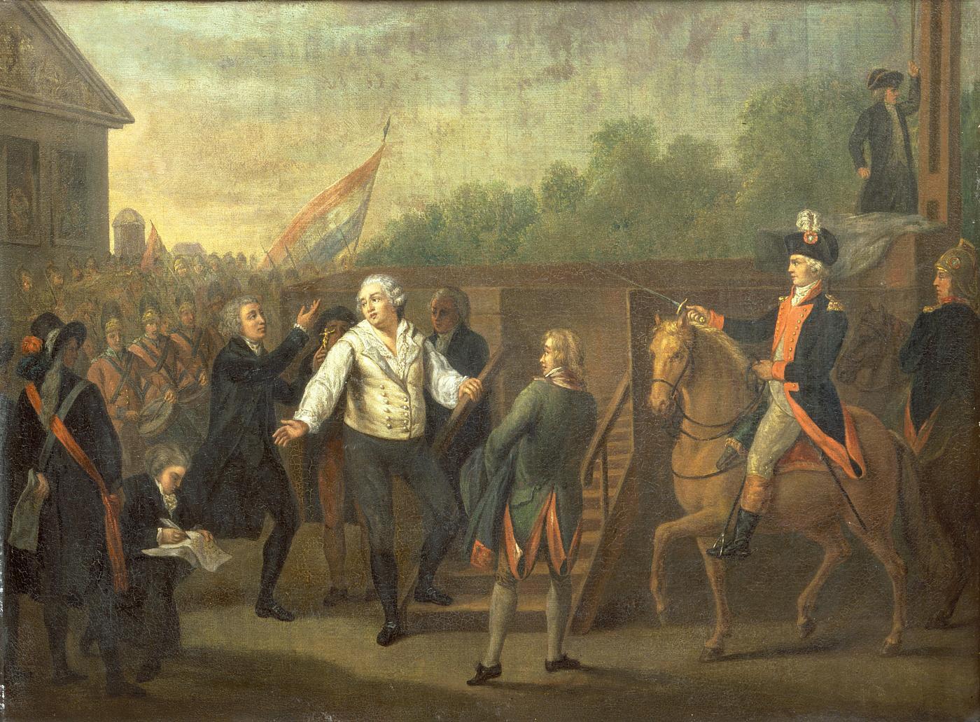 Louis XVI et l'Abbé Edgeworth de Firmont au pied de l'échafaud, le 21 janvier 1793 par Charles BENAZECH