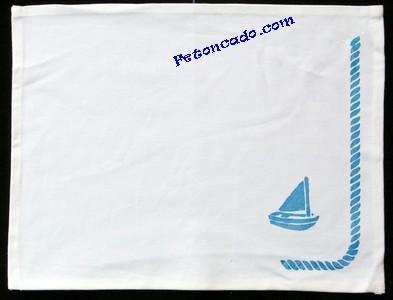 Set de table marin avec bateau