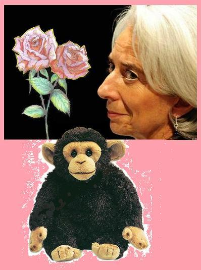 Les roses et le petit singe de Christine Lagarde.