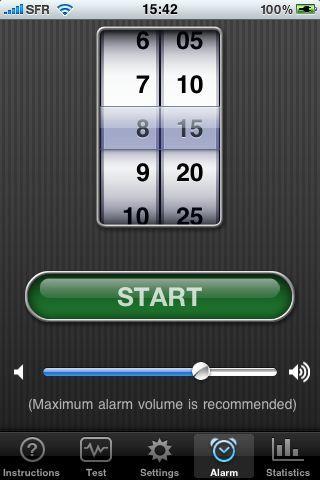iphone  Sleep Cycle alarm clock, mode demploi