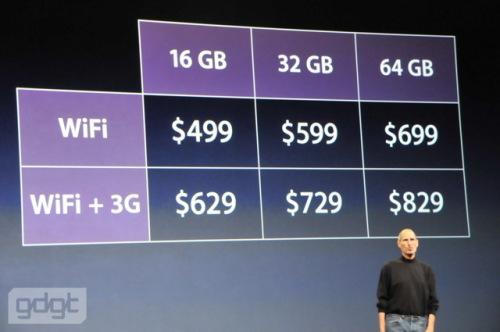 iPad prix