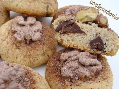 Boules sablées noix et pépites de chocolat