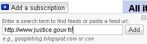 Ajout d'URL
