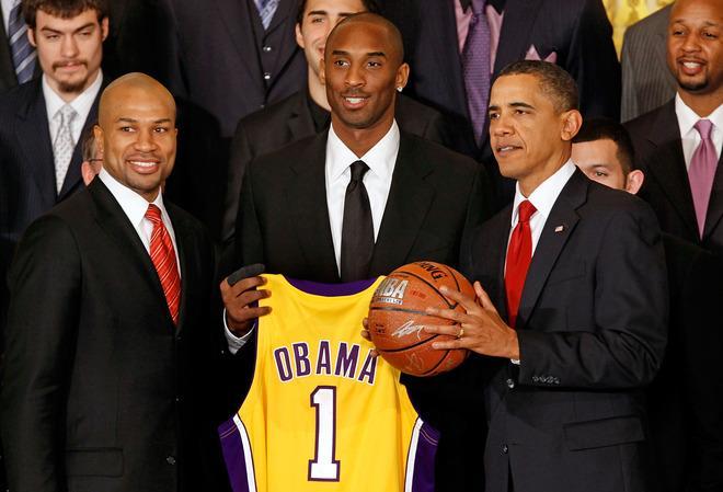 Les Lakers à la maison blanche