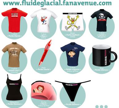 String, shorty, tee-shirts... Rendez-vous sur la boutique Fluide Glacial