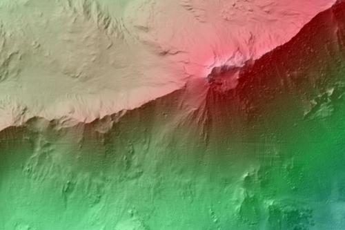 Pentes du cratère du Mojave sur Mars