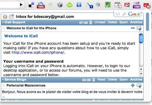 google mail checker plus 6 extensions Gmail pour Google Chrome