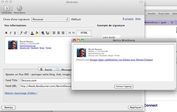 wisestamp 6 extensions Gmail pour Google Chrome