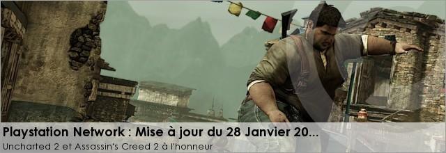Màj PSN : Uncharted 2 Démo et DLC Assassin's Creed 2