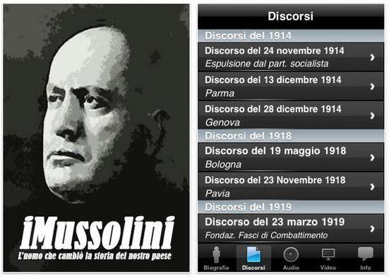 En Italie, l'application Mussolini fait un tabac