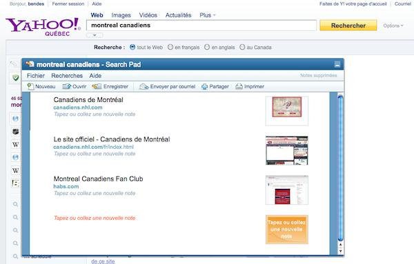 yahoo search pad Yahoo Québec et Canada font peau neuve
