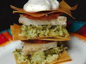 Millefeuille croustillant brocolis, cabillaud, chorizo Petit Inter-blogs Forum Plaisirs Gourmands
