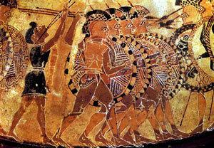 Athene hoplites phalange
