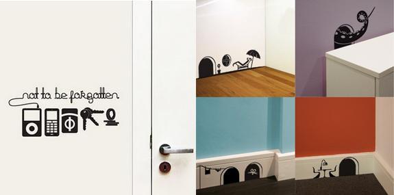 stickers muraux originaux voir. Black Bedroom Furniture Sets. Home Design Ideas