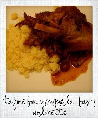 Tajine de cuisses de canard confites aux fruits secs...Une petit goût du maroc