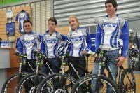 Une partie du Team Culture Vélo Nice : Lopez, Urruty, Gauthier et Trarieux