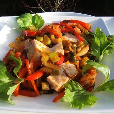 Filet de poulet aux poivrons et celeri branche paperblog - Cuisiner le celeri branche ...