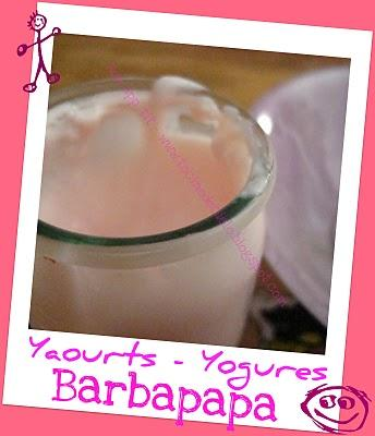Yaourts arome Barbapapa - Yogures con sabor Barbapapa