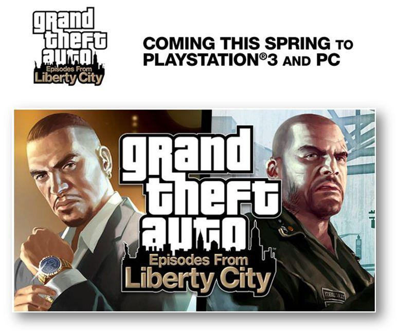 [info] GRAN THEFT AUTO, EPISODES FORM LIBERTY CITY bientôt sur PS3 et PC.