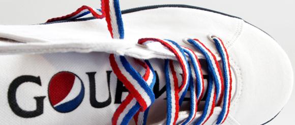 PEPSI & GOURMET : Le logo fusion sur tes baskets