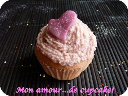 Mes Valentine's cupcakes ou mes cupcakes biscuits roses et framboises