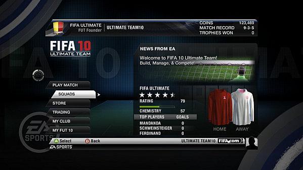 FIFA 10 ... le mode Ultimate Team ... en vidéo !!