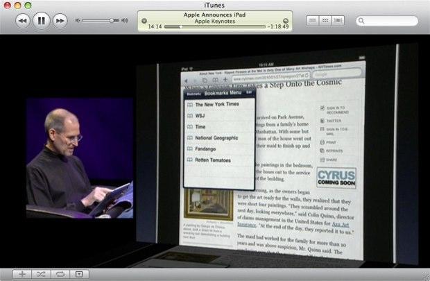 iPad apple itunes
