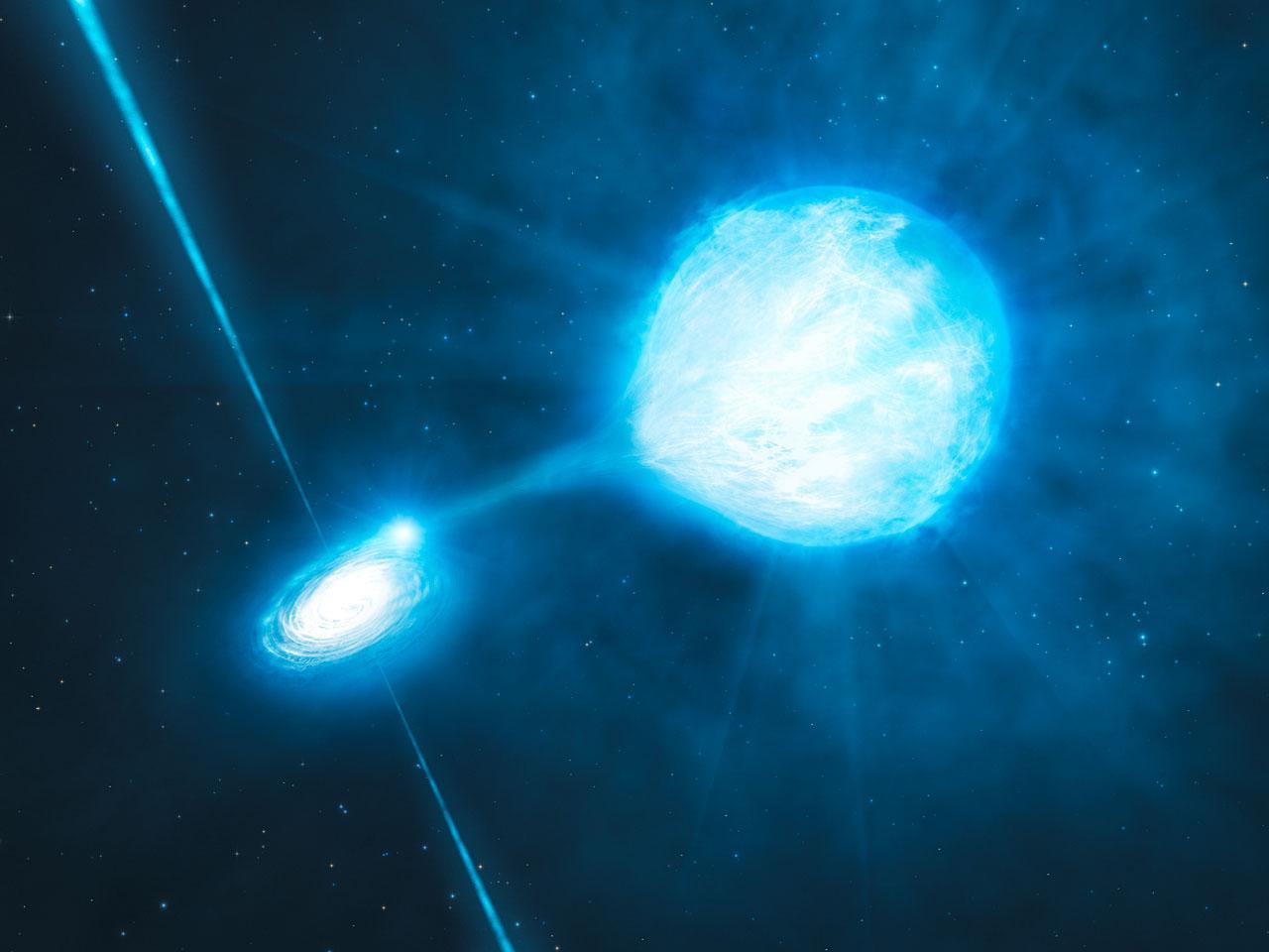 Illustration d'un trou noir stellaire
