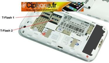 Un téléphone avec 2 Cartes Micro SD