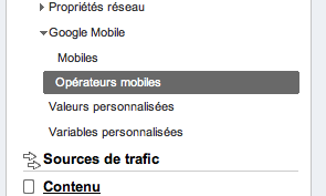 google mobile analytics Google Analytics: une section sur la mobilité et les annotations