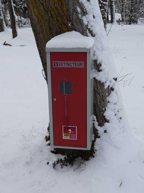 extincteur à neige