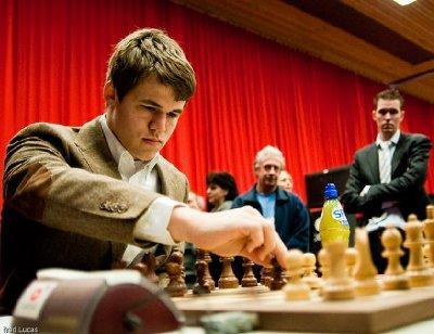 Carlsen victorieux de Dominguez peut-il gagner le Corus ? © Fred Lucas