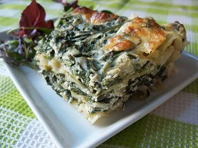 Lasagnes aux épinards et à la ricotta