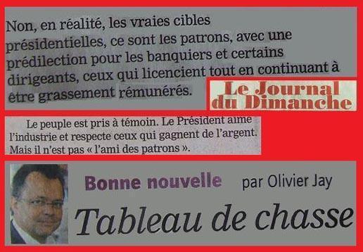 Au Tableau de Chasse : Olivier Jay du JDD.