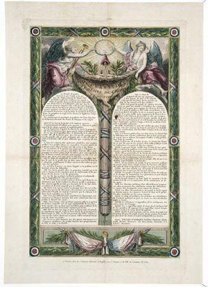 1793 : DECLARATION DES DROITS DE L'HOMME ET DU CITOYEN DE L'AN I