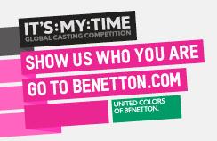 It's My Time: le Global Casting de Benetton