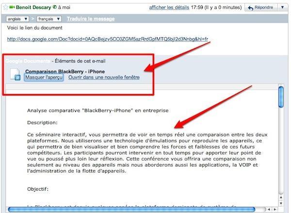 gmail appercu document 9 astuces pour Google Documents