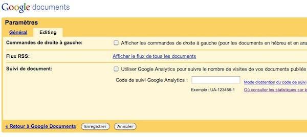 google documents analytics 9 astuces pour Google Documents