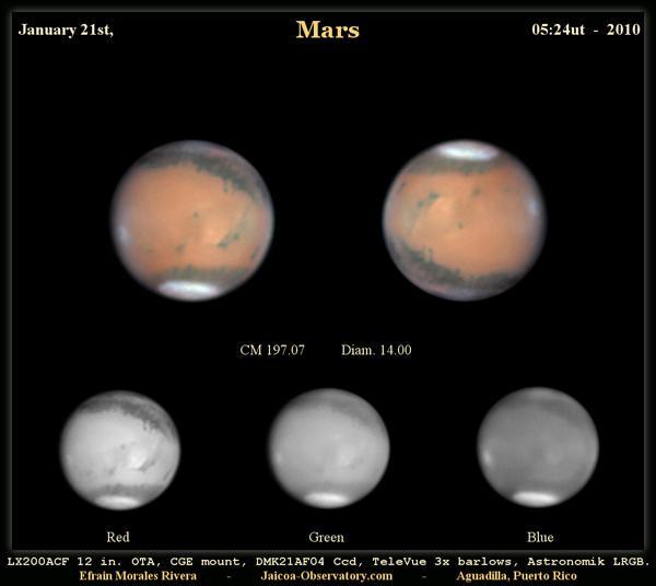 Mars – 21 Janvier sur Spaceweather.com
