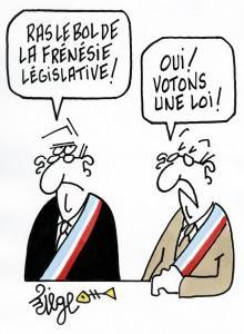 Frédéric Lefebvre et Brice Hortefeux, chantres de l'inflation législative