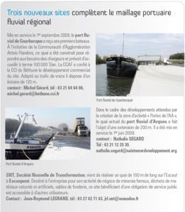 7ème e-letter du Service de la Navigation du Nord-Pas de Calais
