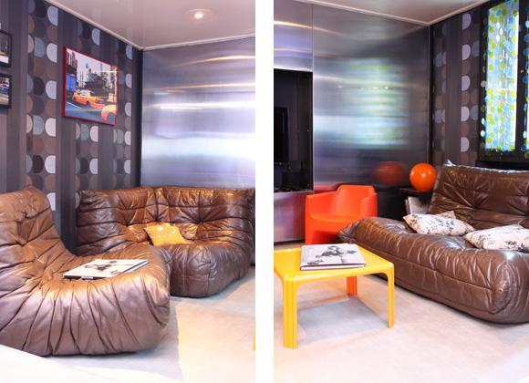 d co salon annees 70. Black Bedroom Furniture Sets. Home Design Ideas