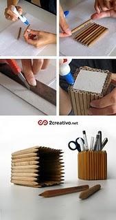 Un pot à crayon en crayons !