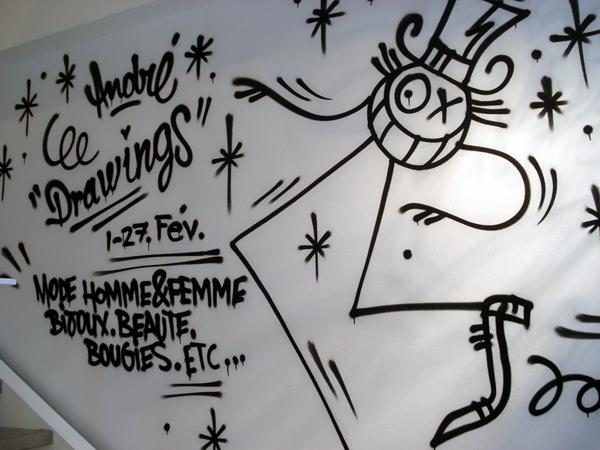 ANDRÉ – DRAWINGS @ COLETTE – OPENING