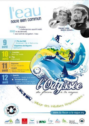L'Odyssée du Flocon à la Vague 2010 : les sportifs s'affrontent...pour célébrer la nature
