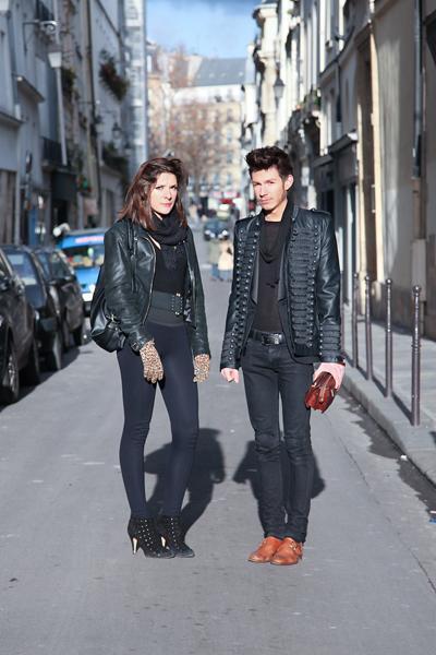 Amanda et Simon - Etudiants en stylisme