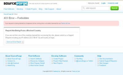 SourceForge bloqué en Syrie, Soudan, Iran, Corée de nord et Cuba